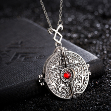 CS911 Hot sale The Mortal Instruments: City of Bones the Devil mirror Necklace Pendant open Charm Jewelry men mysterious gift
