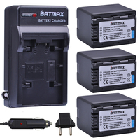 3pcs 3600mAh VW VBK360 Battery+Digital Charger for Panasonic HDC HS80 SD40 SD60 SD80 SDX1 SDR H100 H85 H95 HS60 HS80 TM60
