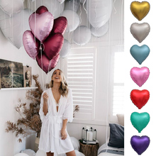 Gift Anniversary Foil Decor Wedding  Metallic Heart Shaped  Valentine Matt Birthday Heart Proposal Party Balloon D20 [funny] put ring or other gift in the davinci code cryptex valentine s day birthday gift unique marriage proposal free lotr ring