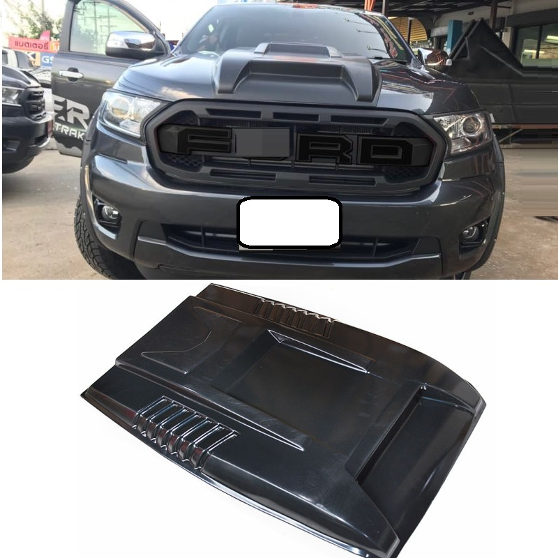 Bug Shields Scoop hoods cover exterior car styling moulding fit for Ranger T8 xlt 2018 2019 scoop hooods covers auto partsBug Shields Scoop hoods cover exterior car styling moulding fit for Ranger T8 xlt 2018 2019 scoop hooods covers auto parts