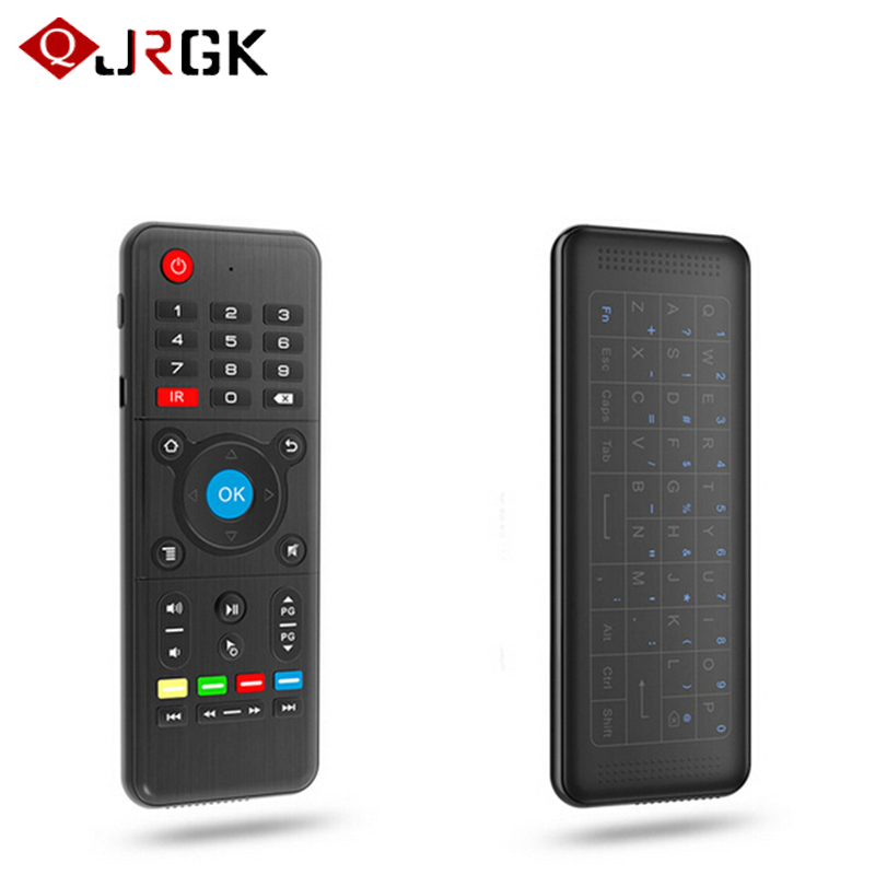 JRGK H1 2.4GHz Fly Air Mouse Wireless Keyboard Remote Controller Full Touchpad 6-Axis Gyro Cobo Smart Remote control IR Learning