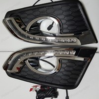 1 pair auto accessory headlight with Daytime running lights For C/hevrolet C/aptiva 2014 2015 Car styling