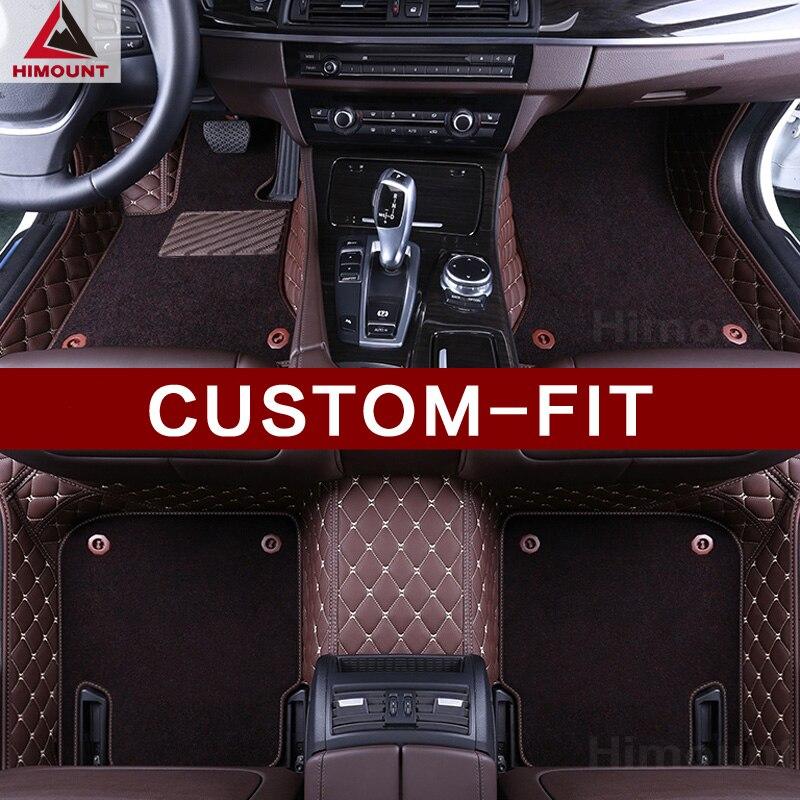 Custom fit voiture tapis de sol pour Toyota Camry Avalon Corolla Couronne Prius V Land Cruiser 100 200 Prado 120 150 de luxe tapis doublures