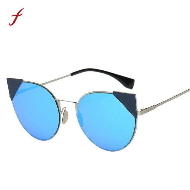 bb5dc16e95add Escudo Olho de Gato Óculos De Sol Mulheres Polarizada HD Lens Homens Óculos  Vintage Retro Moda