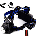 Cree Xml T6 Led Head Light Linterna Frontal Rechargeable 2000 Lumens Zoom Head Lamp Led Headlamp With 18650 Battery Flashlight