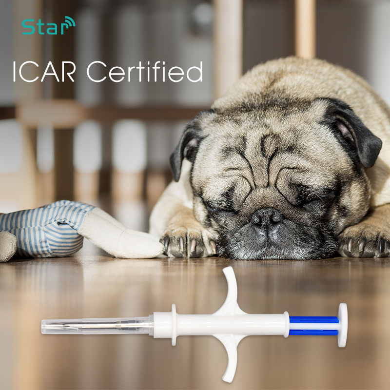 (20pcs/lot) 2.12*12mm 134.2KHz RFID Glass Tag Dog Pet Microchip Syringe ICAR Certified ISO Chip FDX-B Animal Microchip Injector
