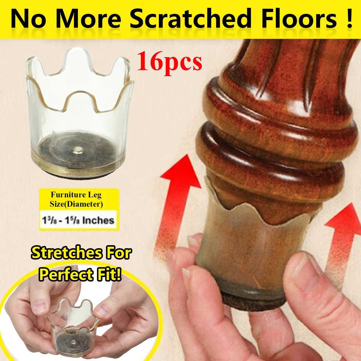 16pcs Silica Gel Chair Leg Caps Furniture Floor Feet Protectors Flexible Floor Protectors Fits Legs 1 3/8-1 5/8 Non-Slip16pcs Silica Gel Chair Leg Caps Furniture Floor Feet Protectors Flexible Floor Protectors Fits Legs 1 3/8-1 5/8 Non-Slip