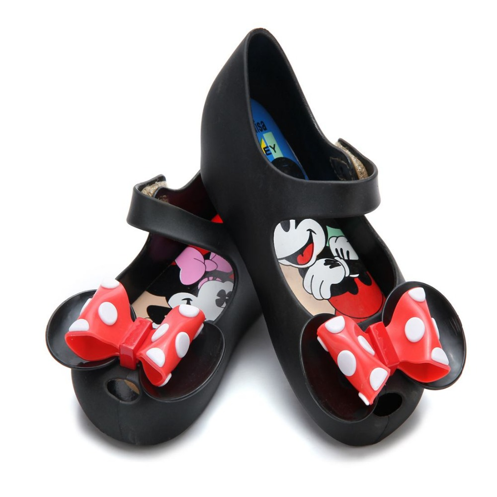 Mini Melissa 2 Layer Bow Mouse Twins Kinderen Sandalen 2018 New - Kinderschoenen - Foto 5