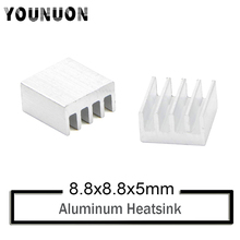 10Pcs YOUNUON 8.8X8.8X5MM Aluminum Heatisinks  For VGA Card for Xbox360 Video Memory Cooling Heatsink Cooler