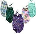 Girls Swimming Mermaid Costume baby Bodysuits Swim wear Bikibi Set Bathing Suit 2-7Years children girls clothes