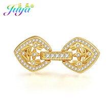dff0151dab16 Oro plata flor flotante conector sujetador Clousure cierre accesorios para  abalorios piedras naturales perlas joyería