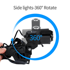 Image 3 - 360 girar 3 lâmpadas telescópica zoomable lâmpada de cabeça usb 18650 recarregável cabeça luz cree t6 led farol 4 modos bicicleta frontale