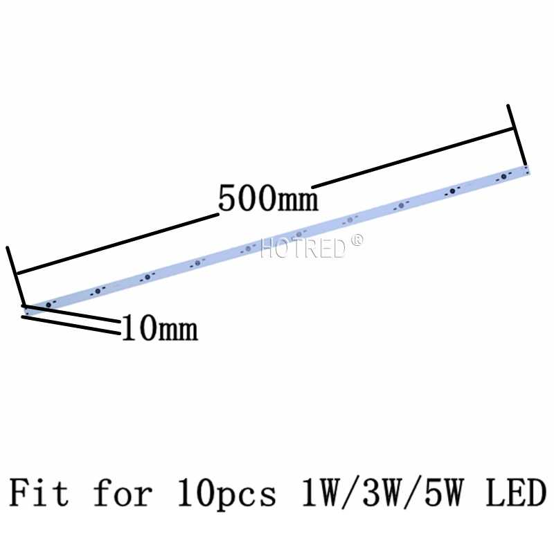 10pcs 10W 30W LED 36W Aluminum Base Plate 500mm*10mm 300*10mm Rectangle Lamp pcb For High Power LED Lights