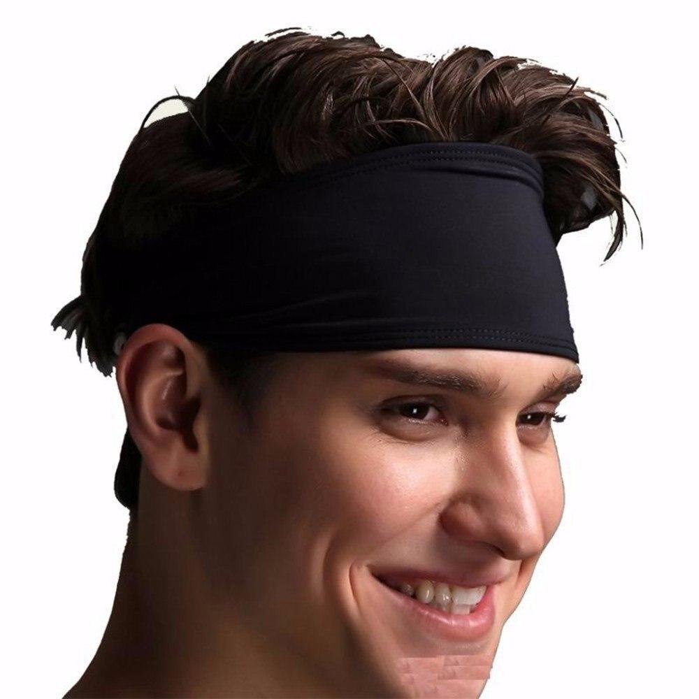 Unisex Sport Headband Women Men Sweat Head Band Elastic Hair Band Sport Non-Slip Sweatband For Yoga Pilates Running Fitness gym