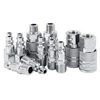 14 pçs linha de ar mangueira compressor montagem 1/4 Polegada conectores de metal bsp acoplador masculino feminino conjunto liberação rápida