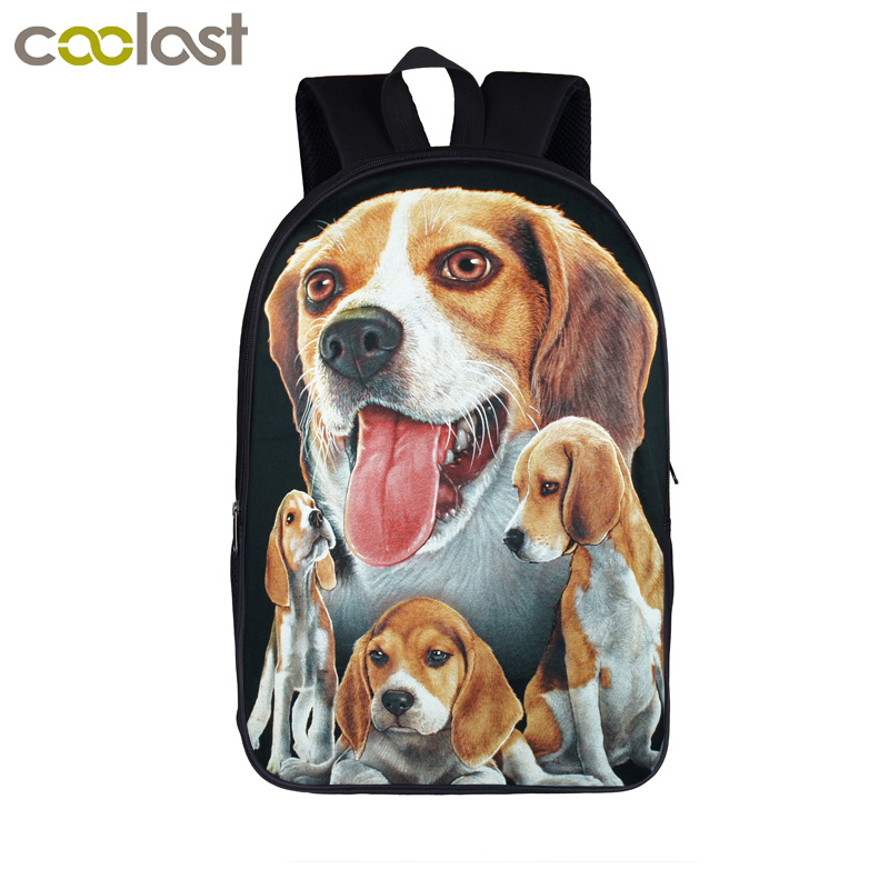 Beagle / Boxer / Bulldog / Pitbull / Rottweiler Dog Backpack Women Male Laptop Bags Boys Girls Backpack School Bags For Teenages