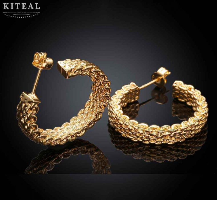 2017 Nieuwe Collectie! mode-sieraden Zilveren kleur/Rose gouden oorbellen vrouwen sieraden gevlochten website oorbellen sieraden