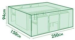 غطاء Cnsjmade ، طاولة وكرسي مجموعة الغطاء الواقي ، غطاء أثاث الحديقة ، غطاء مقاوم للماء ، أثاث خارجي اللون الأخضر