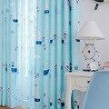 Мультфильм Средиземноморский стиль буле шторы детская спальня semi custom pirate captain печатные шторы оттенок ткани шторы