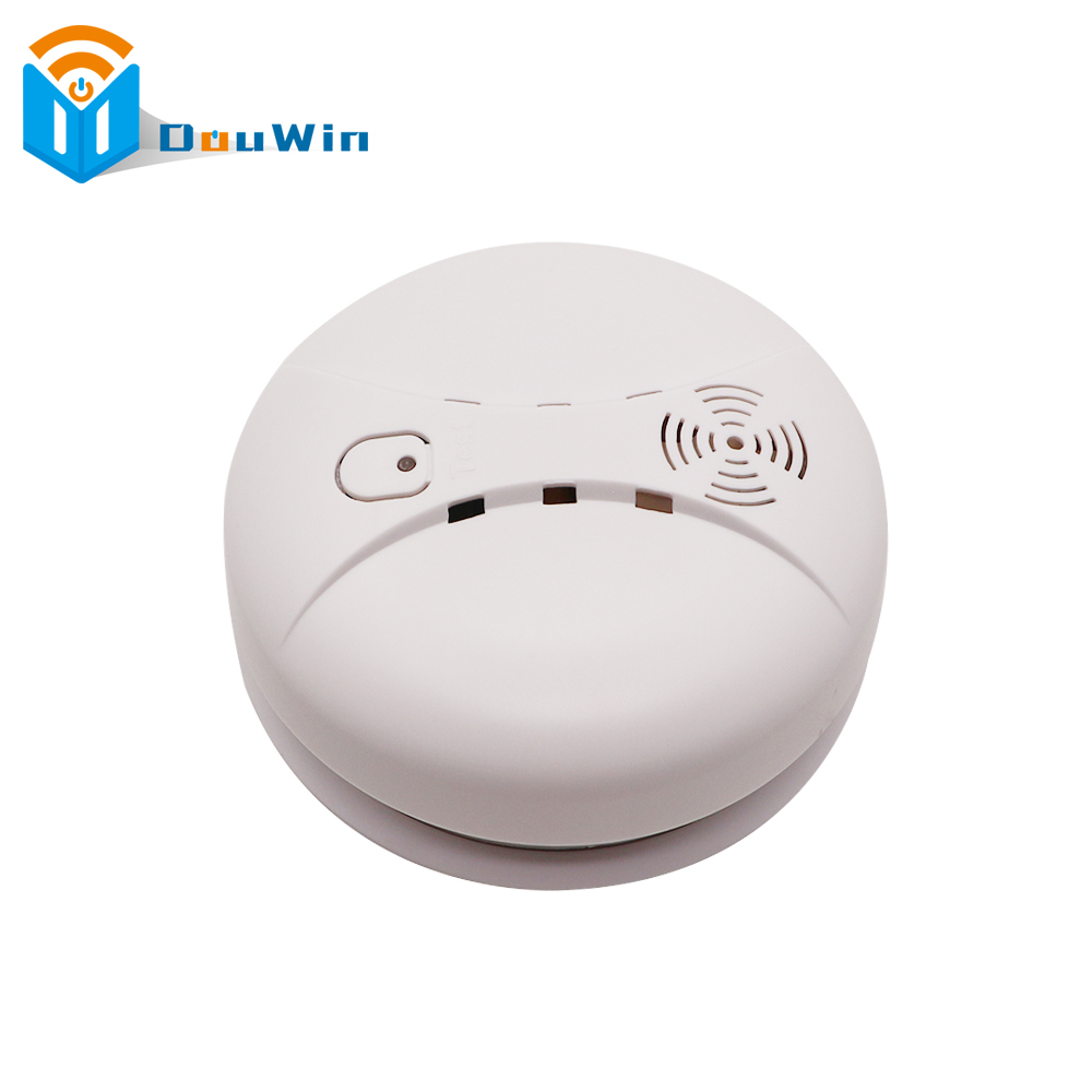 433MHz Alarm Sensors Wireless Fire Smoke Detector for all kind of home security alarm system smoke sensor Alarm from DouWin wireless smoke fire detector smoke alarm for touch keypad panel wifi gsm home security system without battery