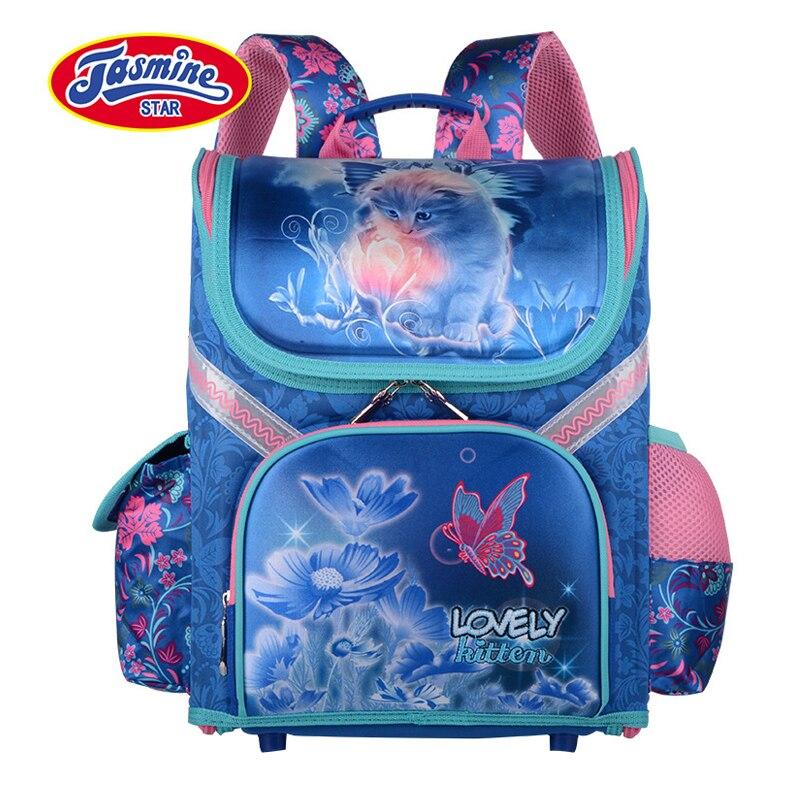 4ed6abaca3e2 JASMINESTAR детская школьная сумка Класс 1-3-6 Новый Мальчики Рюкзак  ортопедический рюкзак мультфильм
