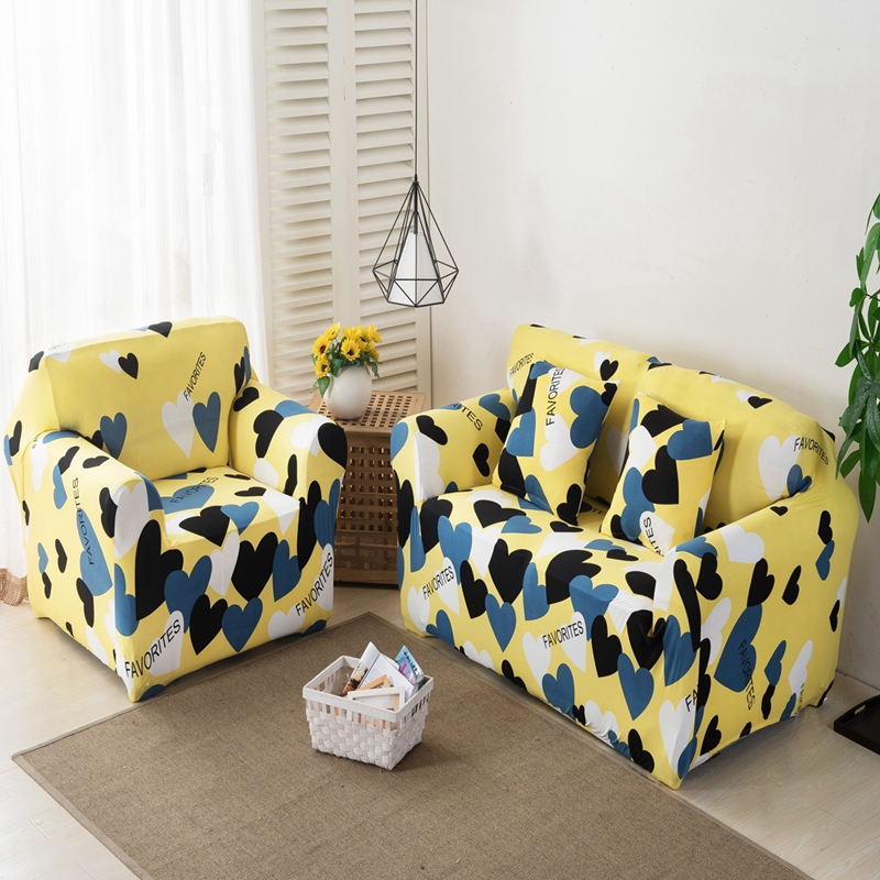 Image 3 - 1/2/3/4seater Slipcover Stretch Four Season Sofa Cover Printing Sofa Cover Spandex Modern Elastic Polyester Couch Sofa Slipcover-in Sofa Cover from Home & Garden