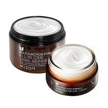 MIZON All In One Ślimak Krem 120 ml [Super Size] + ślimak Krem Pod Oczy 25 ml Zestaw Koreański Kosmetyki Do Pielęgnacji Skóry Twarzy