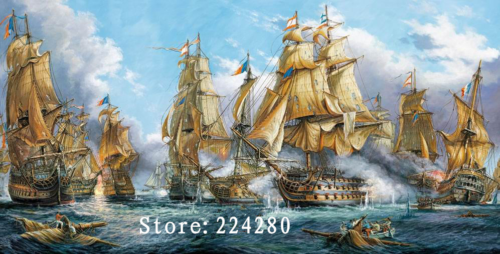 Needlework The Sea Sailboat Scenery 14CT Counted Handwork Embroidery DIY DMC Cross stitch kits Art Cross