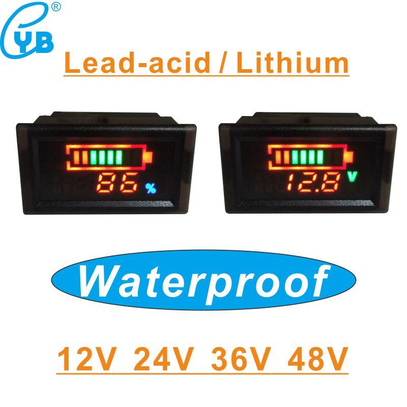 36V Digital LED Battery Capacity Tester Indicator Lead-acid Voltmeter Meter