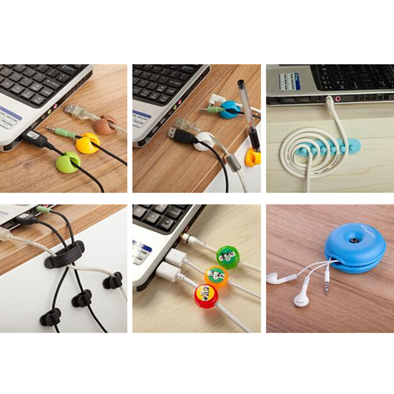 1pcs Smart Turtle Cable Cord Organizer Wrap Wire Winder Earphone Headphone Holder