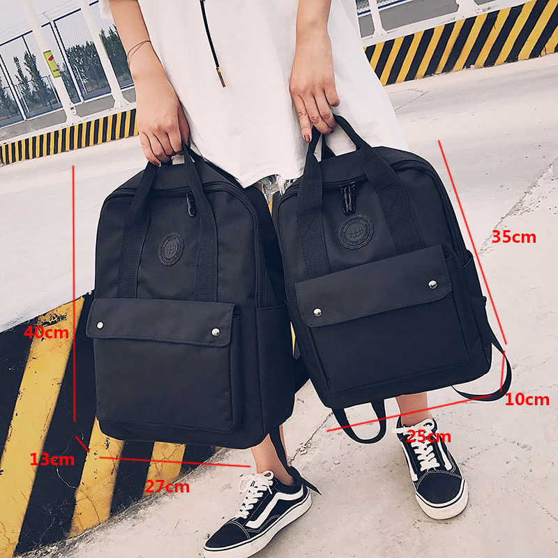 High Quality Fashion Waterproof Women Backpack For School Teenagers Girls Stylish School Bag Ladies Canvas Backpack Female #2