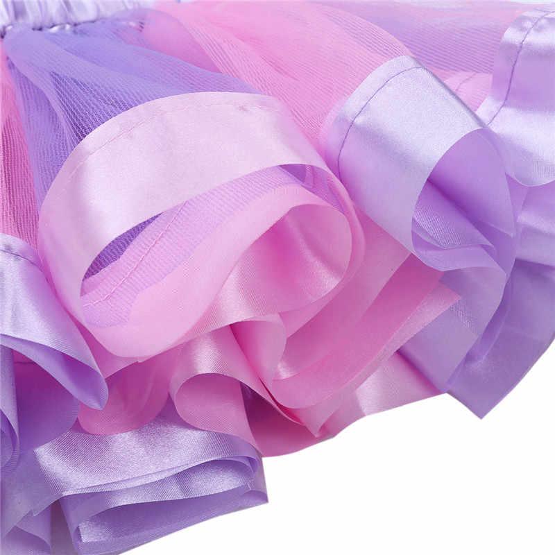 Детское балетное платье для девочек гимнастический купальник для танцев Радужная пачка с оборками юбка с Мультяшные волосы обруч для танцевальной вечеринки для девочек