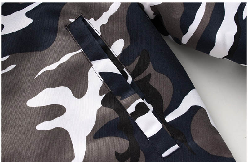 New Winter Men\`s Camouflage Jacket and Coats With Fur Hood Warm Thick Parka Fashion Designer Male Outwear Coats (14)