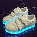 7 colores niños sneakers niños iluminan de carga usb zapato botas niños/niñas de colores de luz led shoes tamaño de los niños 30-35