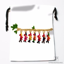 Custom Snow White Seven Dwarfs Drawstring Bags Travel Storage Mini Pouch Swim Hiking Toy Bag Size 18x22cm#0412-03-01