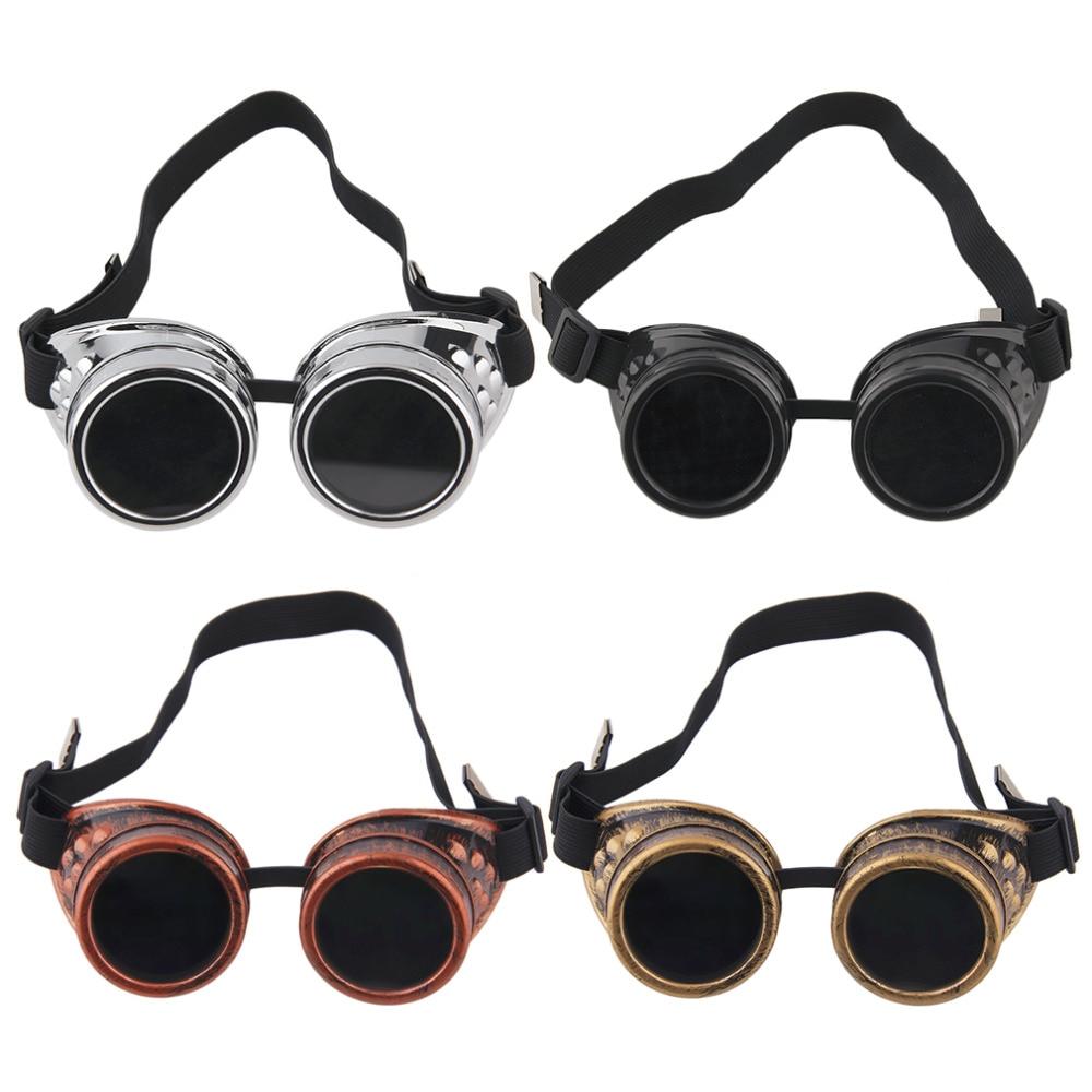 2017 New Goggles Steam punk Glasses Vintage Retro Welding Punk Victorian New Brand