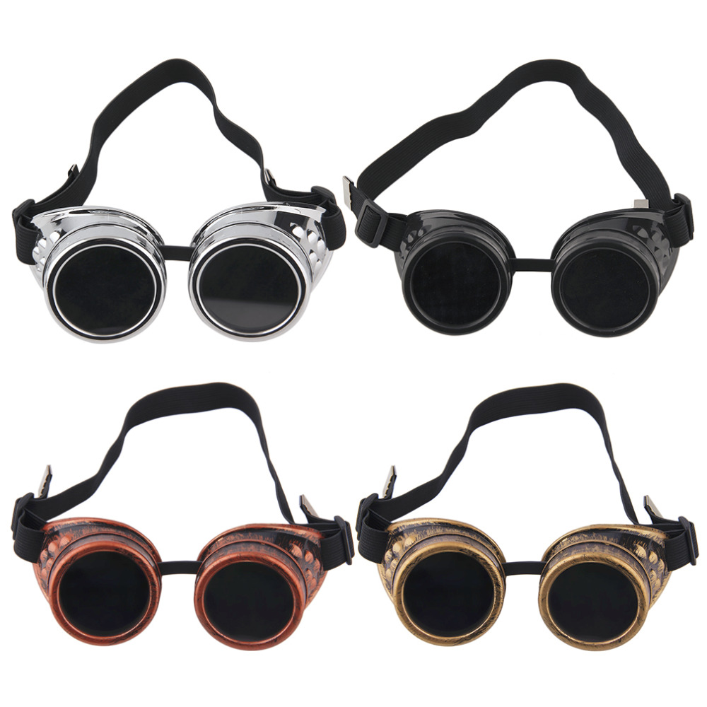2017 New Goggles Steam punk Glasses Vintage Retro Welding Punk Victorian New Brand ...