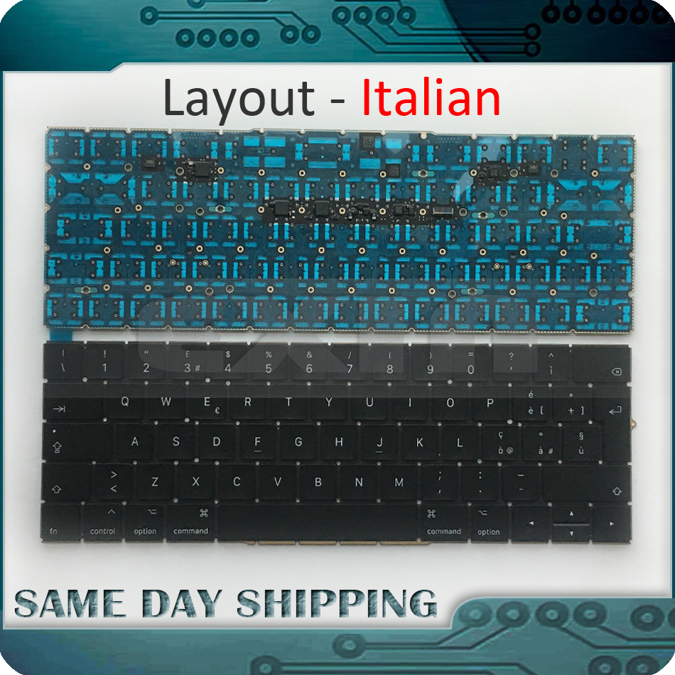 New Laptop Keyboard A1707 Italian Euro EU for Macbook Pro Retina 15'' A1707 Italian Italy Ita. Keyboard Late 2016 Mid 2017 Year laptop keyboard for clevo w650sf w651sf w655sf black without frame italian it