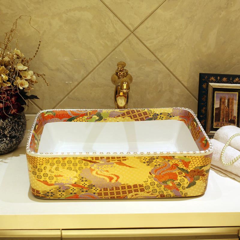jingdezhen lavabo de cermica lavabo de cermica sobre encimera lavabo rectangular lavabos lavabo wcchina