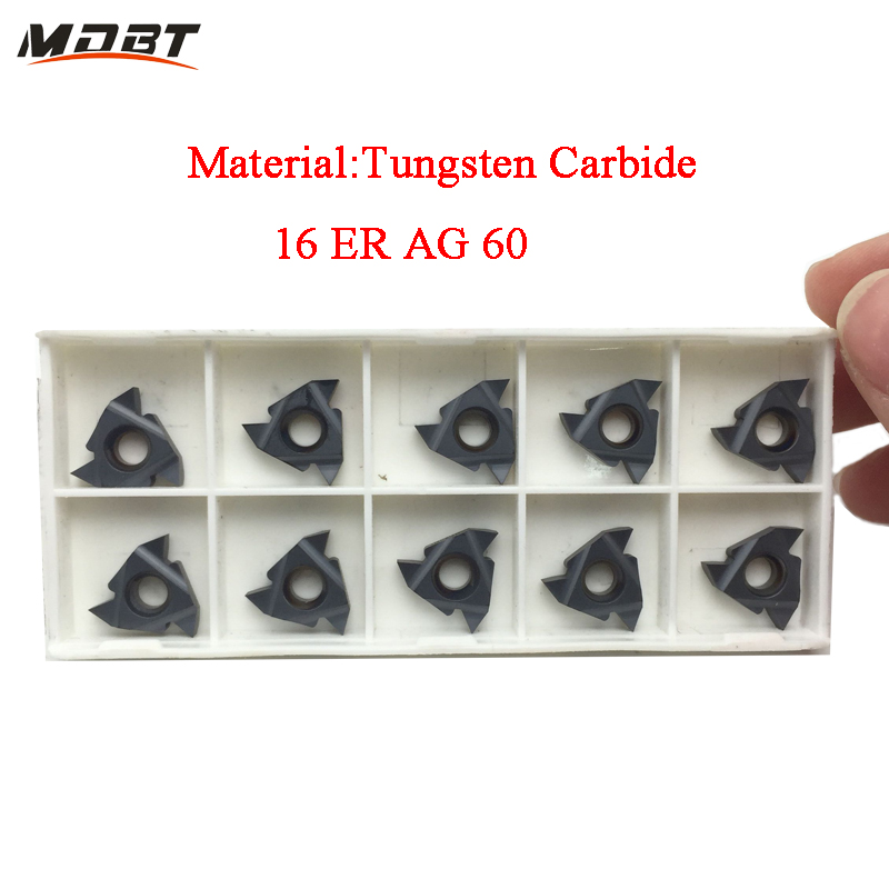 New Arrival Threading Cutting External Turning Tool 16ER AG60 CNC Carbide Inserts Lathe Cutter Suit For SER Lathe Tool Holder  цены