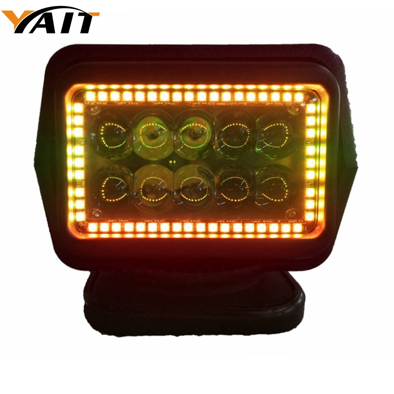 Yait 10-30V RGB Remote control LED Searchlight 7inch 50W Spotlight LED Work Light TRUCK SUV BOAT MARINE driving light marlaa ip67 10 30v remote control led searchlight 7inch 60w spotlight led light truck suv boat marine light led working light