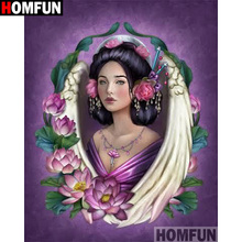 HOMFUN Full Square/Round Drill 5D DIY Diamond Painting Flower beauty 3D Embroidery Cross Stitch 5D Home Decor A13410 homfun full square round drill 5d diy diamond painting beauty flower embroidery cross stitch 3d home decor gift a13396