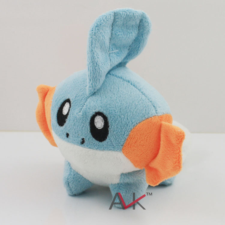 Wholesale 10pcs/lot Small Mudkip Plush Toys 6 Soft Stuffed Animals Doll Toy Figure Kids Game Toys Birthday Gifts 5pcs lot pikachu plush toys 14cm pokemon go pikachu plush toy doll soft stuffed animals toys brinquedos gifts for kids children