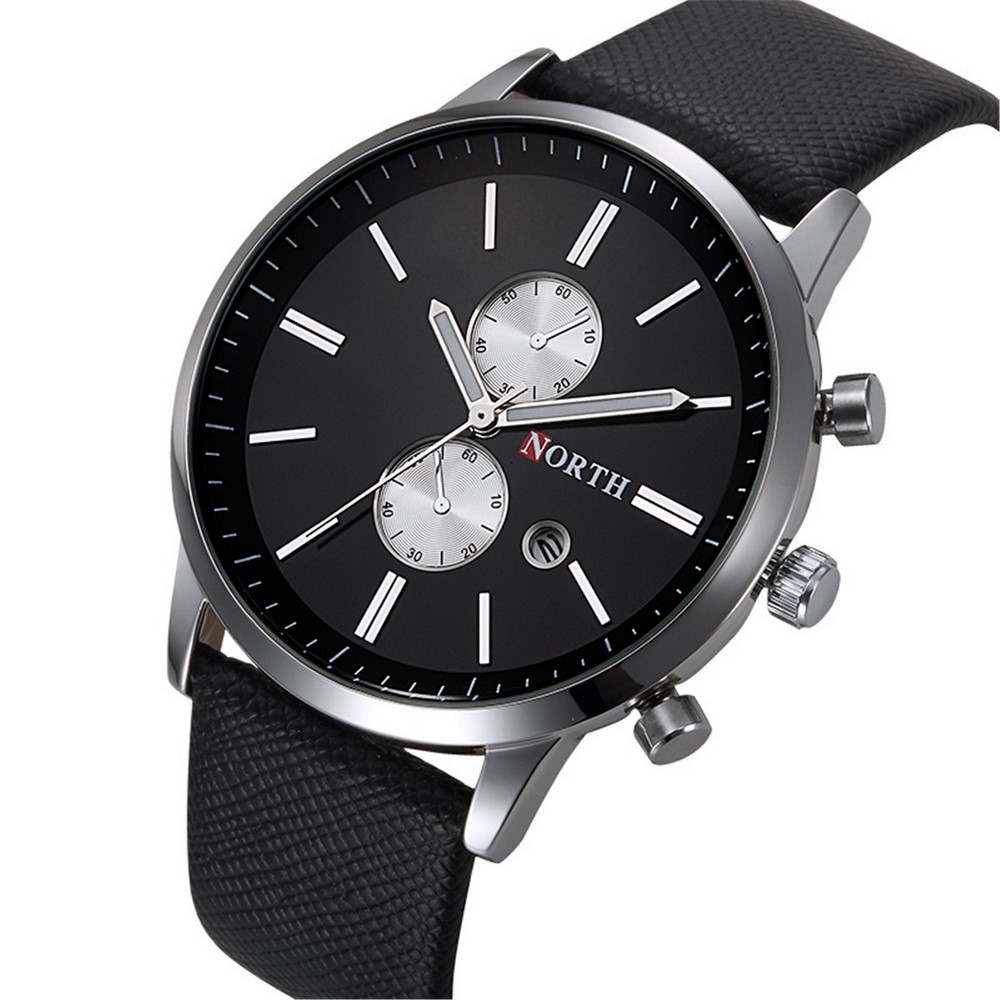black mens quartz analog steel watch classic wrist band products watches dress numeral date roman casual waterproof stainless business unique calendar window