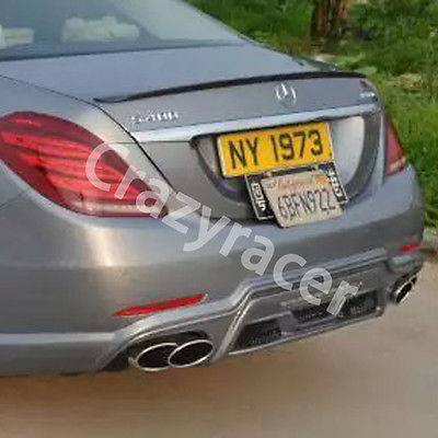 W222 S Class S63 AMG S300 S350 S400 S500 S550 S63 Carbon Fiber Rear Trunk Lip Spoiler Wing for Mercedes Benz 2014-2016 футболка print bar mercedes amg s 63 w222