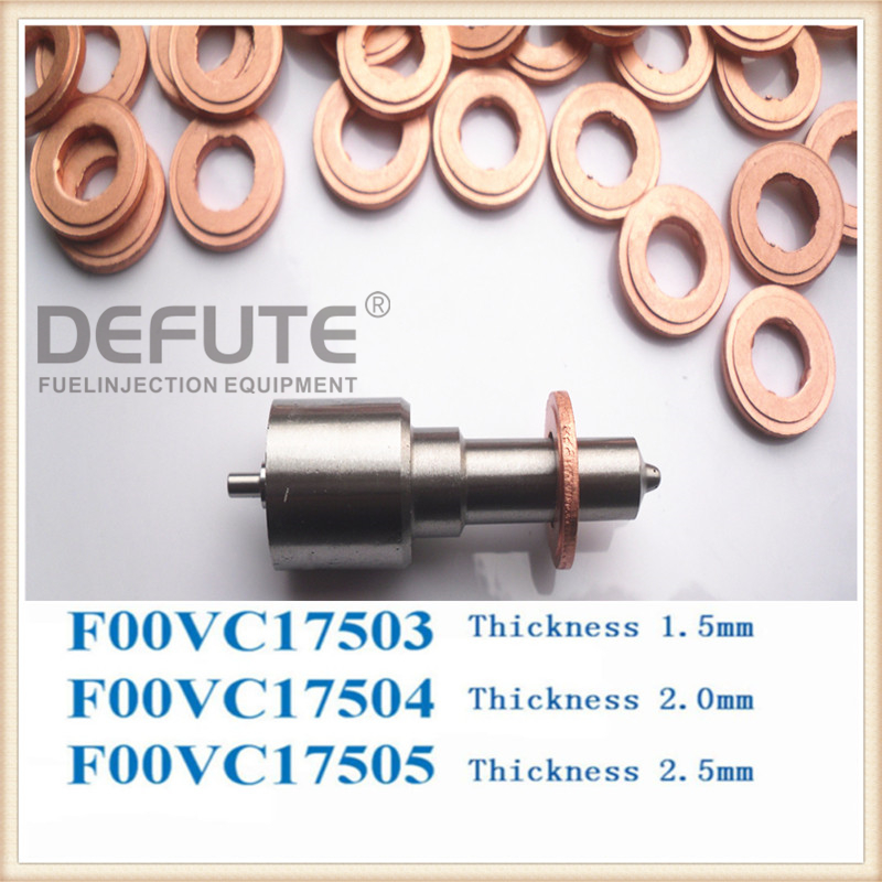 F00VC17504 Injector Copper Rings Washers Shims Gasket Set F00V C17 504 Size 7.7X15.1X2(mm) Thickness 2mm