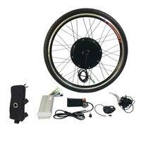 1000W Electric E Bike Conversion Kit 26 Front Wheel Motor Bicycle Hub 48V Aluminum Alloy Tool Kit Crank Speed Sensor
