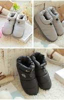 для женщин хлопок ботильоны 2017 зимние ботинки водонепроницаемый скольжению моды хлопковая теплая обувь на зиму женская обувь; ботас мухер