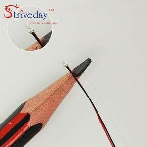 Image 3 - 100PCS 8V  12V 0402 0603 0805 1206 Pre soldered micro litz SMD LED led wired leads 20cm