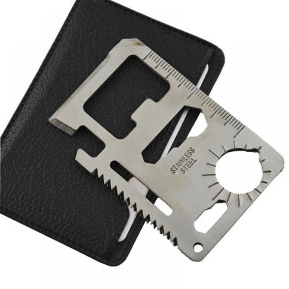 Multi Tools 11 In 1 Multi-function Survival Camping Pocket Military Credit Card Knife For Outdoor Hunting